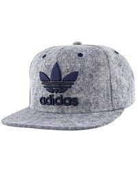 413d7c31 Lyst - adidas Originals Snapback Flatbrim Cap in Blue for Men