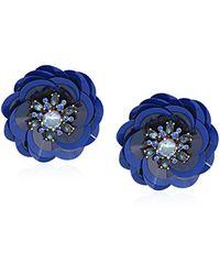 Kate Spade - Blue Snowy Nights Sequin Statement Stud Earrings - Lyst