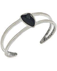 The Sak - Metallic Single Stone Cuff Bracelet - Lyst