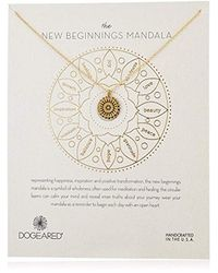 "Dogeared Metallic The New Beginnings Mandala Necklace Small Center Star Chain Necklace, 16"" +2"" Extender"