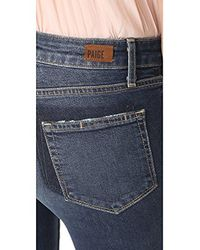 PAIGE - Blue Jacqueline Frayed Hem With Shadow Pocket Jeans-domino - Lyst