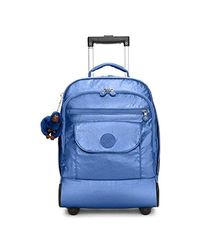 Kipling Blue Luggage Sanaa Wheeled Backpack