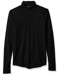 Theory Black Long Sleeve Turtleneck for men