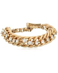 Kenneth Cole - Metallic Social Items Faceted Bead Toggle Link Bracelet - Lyst