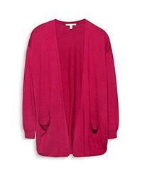 Esprit - Red Cardigan - Lyst