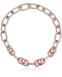 Michael Kors - Metallic S Pearl Link Collar Necklace - Lyst