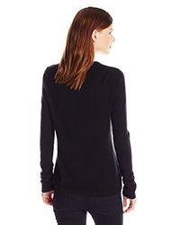 Lark & Ro - Black 100% Cashmere Soft Slim Fit Crewneck Sweater - Lyst