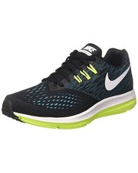50482b36130d3 Nike Zoom Winflo 4 Running Shoes in Black for Men - Lyst