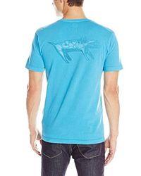 Quiksilver Blue Young Ghetto Dog Screen T-shirt for men