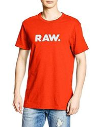 73b9027e4a4 G-Star RAW Holorn R T S s T-shirt Pink in Orange for Men - Lyst