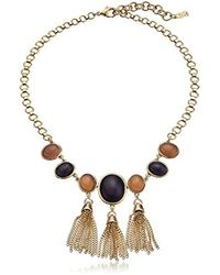 "Cole Haan - Metallic Multi-stone Frontal Fringe Drama Necklace, 16"" + 2.75"" Extender - Lyst"