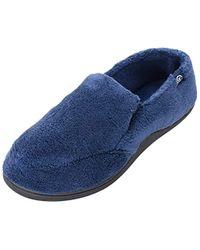 438c93397c8 Isotoner. Men s Blue Terry Moccasin Slipper With Memory Foam For Indoor outdoor  Comfort
