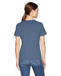 Pendleton - Blue Short Sleeve Rib Tee, Vintage Indigo, Lg - Lyst