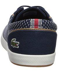 Lacoste - Blue Lancelle 6 Eye Sneaker for Men - Lyst