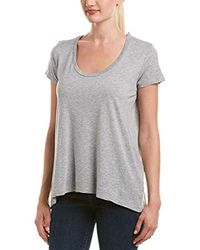 Splendid - Gray Light Jersey Short Sleeve Tee In Grey - Lyst