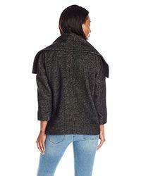 NYDJ - Black Cropped Wrap Blanket Coat - Lyst