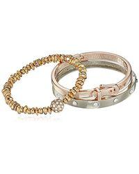 Guess - Metallic S Three-piece Bracelet Set - Lyst