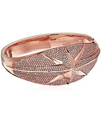 Michael Kors - Metallic S Starburst Pave Hinge Bracelet - Lyst