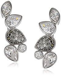 Judith Jack - Metallic Sterling Silver Swarovski Marcasite Crawler Stud Earrings - Lyst