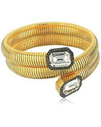 Vince Camuto - Metallic Coil With Square Stone Bracelet - Lyst