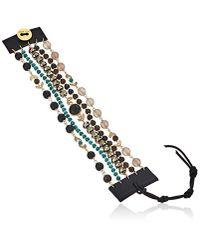 Chan Luu - Black Horn Mix Multi Strand Bracelet - Lyst