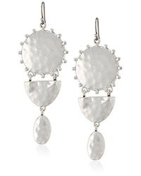 Lucky Brand - Metallic S Medallion Statement Earrings - Lyst