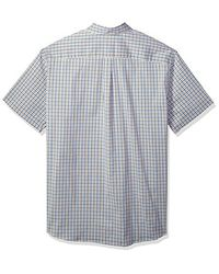 Dockers - Blue Big And Tall Bt Comfort Stretch No Wrinkle Short Sleeve Buttonfront Shirt for Men - Lyst