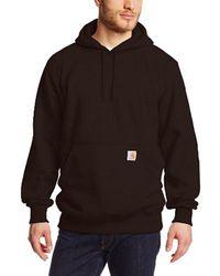 Carhartt - Brown Big & Tall Rain Defender Paxton Heavyweight Hooded Sweatshirt for Men - Lyst