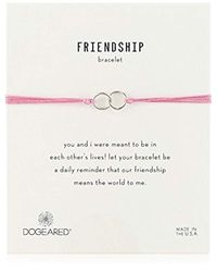 Dogeared - Pink Friendship Small Open Heart With Mix String Bracelet - Lyst