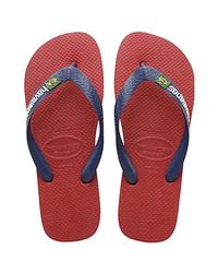 a28740dcb180e4 Lyst - Havaianas Brazil Sandal Flip Flop in Red