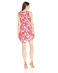 Kensie - Red Tie Dye Printed Dress - Lyst