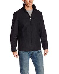 Perry Ellis - Black Big Melton Wool Jacket for Men - Lyst