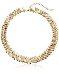 Napier - Metallic S Link Collar Necklace, Gold-tone - Lyst