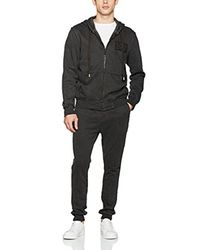 True Religion - Black Ls Raw Edge Zip Hoodie for Men - Lyst