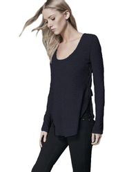 Lanston - Side Lace Up Top In Black - Lyst