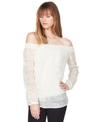 Bailey 44 | White Reality Off-the-shoulder Top In Vanilla | Lyst