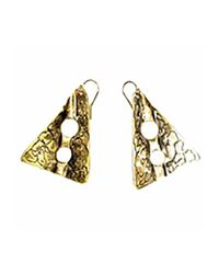 Sibilla G Jewelry | Metallic Sibilla G Oxidized Brass Gold Tone Earrings | Lyst