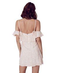 For Love & Lemons - Aurora Ruffle Dress In White - Lyst