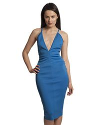Lyst Bec Bridge Electric Midi Dress In Cobalt In Blue