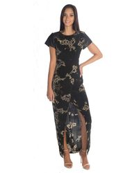Benjamin Jay   Metallic Zayden Maxi Dress In Galaxy Print   Lyst