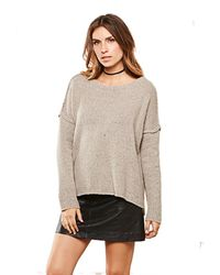 BB Dakota | Natural Richelle Yarn Pullover Sweater In Toffee | Lyst