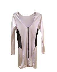 Boulee | White Erika Techno & Netting Bodycon Dress | Lyst