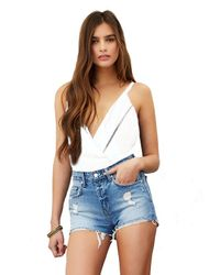 Lovers + Friends | White Lovers + Friends Vision Cami Bodysuit In Ivory | Lyst