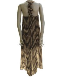 Sweet Pea By Stacy Frati | Brown High Low Dress | Lyst