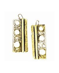 Sibilla G Jewelry | Metallic Sibilla G Oxidized Brass Rectangular Earrings | Lyst