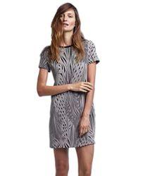 Twenty - Multicolor Tees Knit Short Sleeve Shift Dress In Shadow - Lyst
