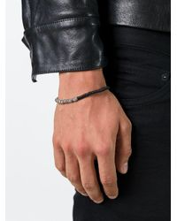 M. Cohen | Black Beaded Bracelet for Men | Lyst