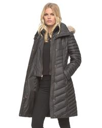 Andrew Marc | Black Kendell Genuine Coyote Fur Trimmed Quilted Jacket | Lyst