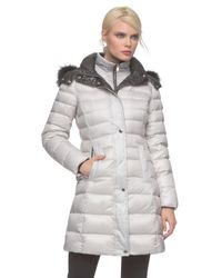 Andrew Marc - Metallic Gayle Down Puffer Coat - Lyst
