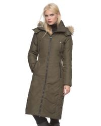 Andrew Marc | Green Olympia Fur-Trimmed Down Coat | Lyst